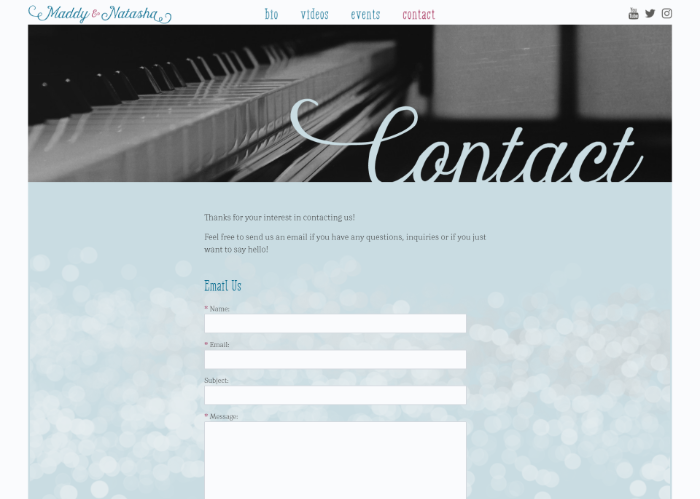 Maddy & Natasha - Contact Form
