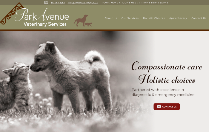 Park Avenue Veterinary Services Home Page